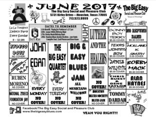 June 2017 Calendar for The Big Easy