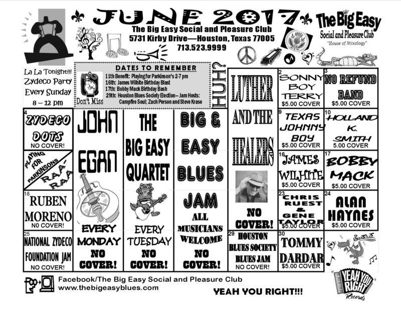 June 2017 Calendar for The Big Easy