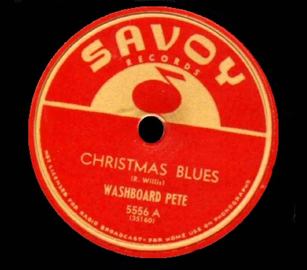 Christmas Blues up close record label