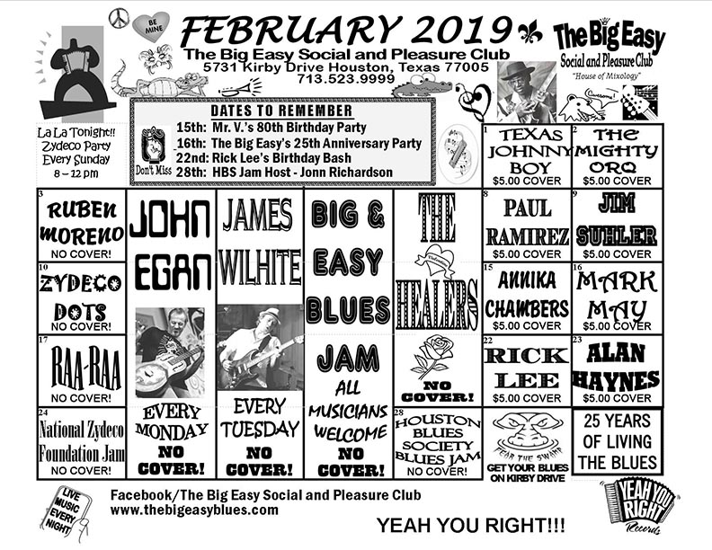 February Calendar 2019.February 2019 Calendar The Big Easy